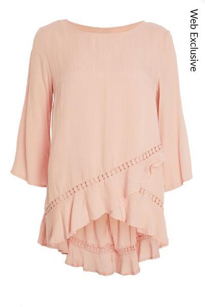 Pink Dip Hem Top